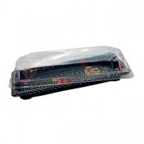 Sushipac Black Sushi Container 219x90x43mm +Lid | 500pcs