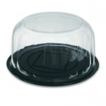 Pastripac ⌀255x110mm Black Base+Clear Dome Lid | 100pcs