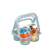 Plastic Takeaway Drinks Carrier - Transparent | 500pcs