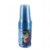 Fun® Clear Plastic Cup 8oz - Turquoise | 25pcsx20pkts