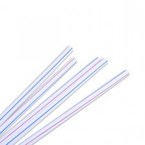 Straight Straw ⌀8x230mm - White/Striped | 10000pcs