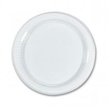 Round Plate ⌀22cm - White   50pcsx10pkts