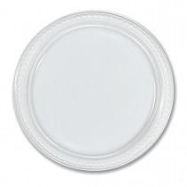 Plastic Plate ⌀26cm - White   50pcsx10pkts