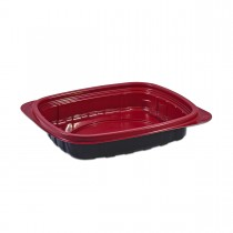 Tutipac Black and Red Multipurpose Wide Containers 16oz PP | 300pcs