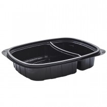 Tutipac 2-Comp Black Cold Multipurpose Containers PET | 250pcs