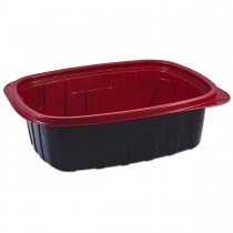 Tutipac Black and Red Hot Multipurpose Containers 48oz PP | 250pcs