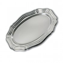 Royal Oval Louis xiv Platter 39x27cm - Silver | 50pcs