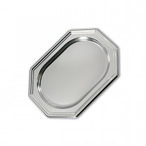 Royal Octagonal Platter 36x24cm - Silver | 50pcs