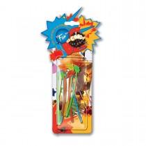 Fun® Palm-Tree Plastic Stirrers - Assorted Colours | 12pcsx24pkts