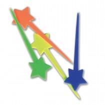 Star Plastic Picks 9.5cm - Assorted Colours | 200pcsx5pkts