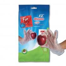 Fun® Standard P.E. Gloves Clear Embossed | 100pcsx24pkts