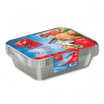Fun® Aluminium Container w/ Lid 1060cc | 10pcsx50pkts