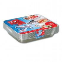 Fun® Aluminium Container w/ Lid 2400cc | 10pcsx10pkts
