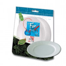 Fun® Heavy-Duty Paper Plate ⌀7in - White | 50pcsx20pkts