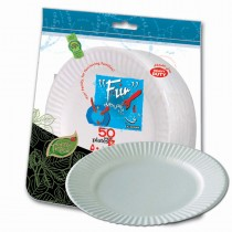 Fun® Heavy-Duty Paper Plate ⌀9in - White | 50pcsx20pkts