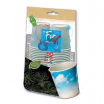 Fun® Paper Cup 6.5oz - Blue Skies | 50pcx20pkts