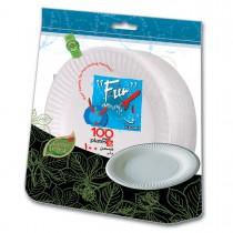 Fun® Standard Paper Plate ⌀9in - White | 100pcsx10pkts