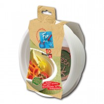 Fun® Biodegradable Moulded Fibre Bowl 16oz | 10pcsx25pkts