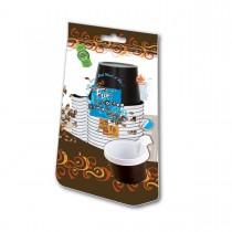 Fun® Plastic Cappuccino Cup 5oz - Brown | 25pcsx40pkts