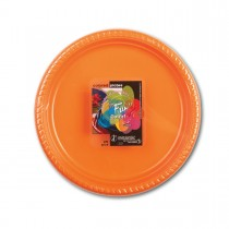 Fun® Plastic Plate ⌀22cm - Citrus | 25pcsx20pkts