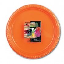 Fun® Plastic Plate ⌀25cm - Citrus | 10pcsx25pkts