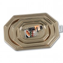 Fun® Octagonal Platters (3 Sizes) - Gold | 3pcsx9pkts