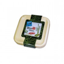 Fun® Palm Bio Leaf Square Plate ⌀8in | 10pcsx10pkts