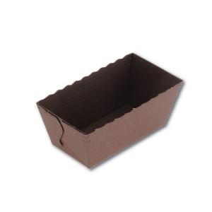 Mini-Rectangular Brown Paper Baking Mould - 80x40x40mm | 1350pcs
