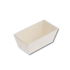 Mini-Rectangular White Paper Baking Mould - 80x40x40mm | 1350pcs