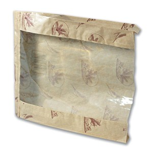 Paper Bread Bag w/ Window 30x23+4.2cm | 1000pcs