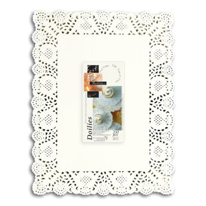 Fun® Doily Rectangular 12x16in - White | 250pcsx8pkts
