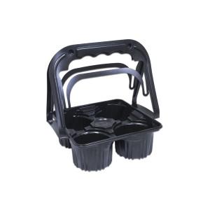Plastic Takeaway Drinks Carrier - Black | 500pcs