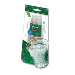 Fun® Clear Plastic Cup 8oz | 25pcsx40pkts