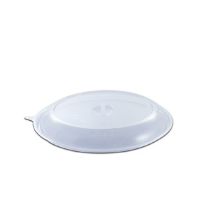 Roundpac Dome Lid w/ Spork Slot for Round Plate ⌀22cm - PET/Clear Deluxe | 25pcsx10pkts