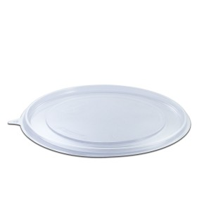 Roundpac Flat Lid for Round Plate ⌀26cm - PET/Clear Deluxe | 25pcsx10pkts
