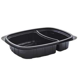 Tutipac 2-Comp Black Cold Multipurpose Containers PET   250pcs