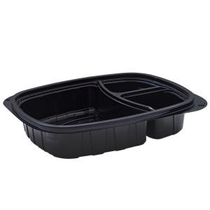 Tutipac 3-Comp Black Hot Multipurpose Containers PP   250pcs