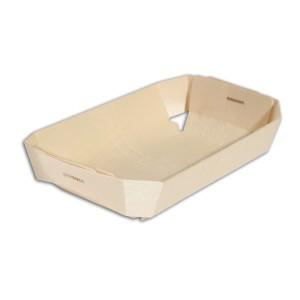 Rectangular Wooden Baking Mould 170x120x40mm | 20pcsx10pkts
