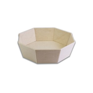 Round Octagonal Wooden Container ⌀160x40mm | 400pcs