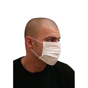 2-Ply Nonwoven Mask - White | 50pcsx20pkts