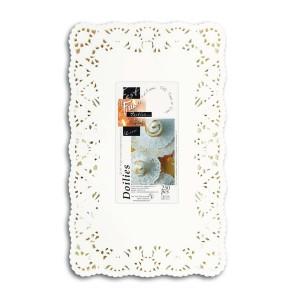 Fun® Doily Rectangular 8x12in - White | 250pcsx8pkts