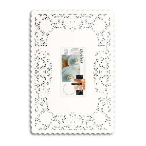 Fun® Doily Rectangular 10x14.5in - White | 250pcsx8pkts