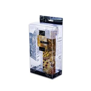 Fun® Clear Flute Glass 6oz (Clear+Black Base) | 6pcsx14pkts