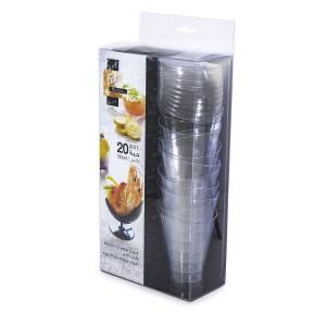 Fun® Verrine Crystal Cup - High 195ml w/ Lid | 20pcsx24pkts