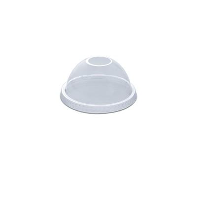 Dome Lid w/ Straw Slot (Hole) for PET Clear Cups 12/14oz - PET | 50pcsx20pkts