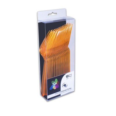 Fun® Heavy Duty Colored Plastic Forks - Citrus   18pcsx30pkts
