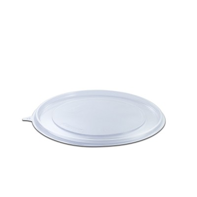 Roundpac Flat Lid for Round Plate ⌀22cm - PET/Clear Deluxe | 25pcsx10pkts