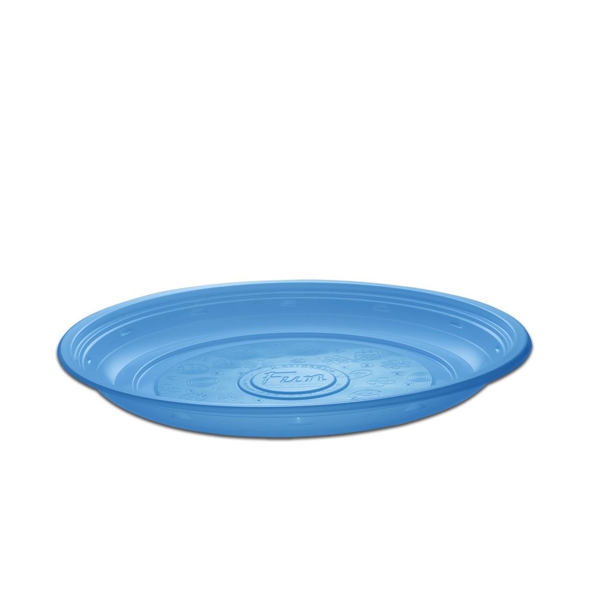 Roundpac Round Plate ⌀26cm - PP/Blue Deluxe | 25pcsx10pkts