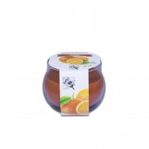 Fun® Scented Candles in Round Glass 8x7.2cm - Orange | 1pcx6pkts