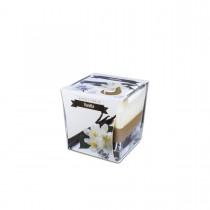 Fun® Scented Candles in Square Glass  8x8x8cm - Vanilla   1pcx6pkts